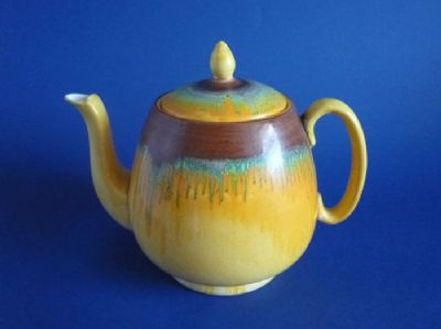 Large Shelley Harmony Drip Ware Teapot c1935